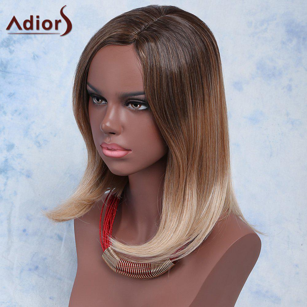 Women's Stylish Straight Medium High Temperature Fiber Wig - COLORMIX