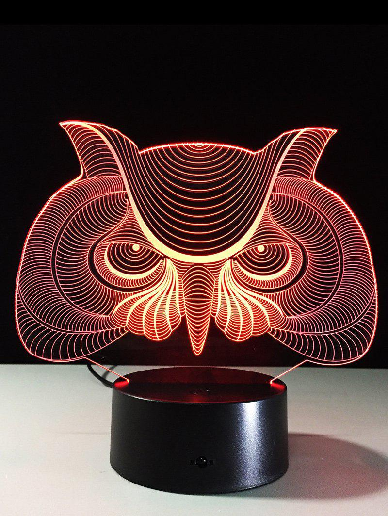 LED 3D Visual Color Change Owl Touch Table Night LightHome<br><br><br>Color: COLORFUL