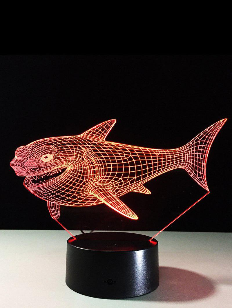 3D Visual Shark 7 Color Changing Touch LED Table Night Light 204800201