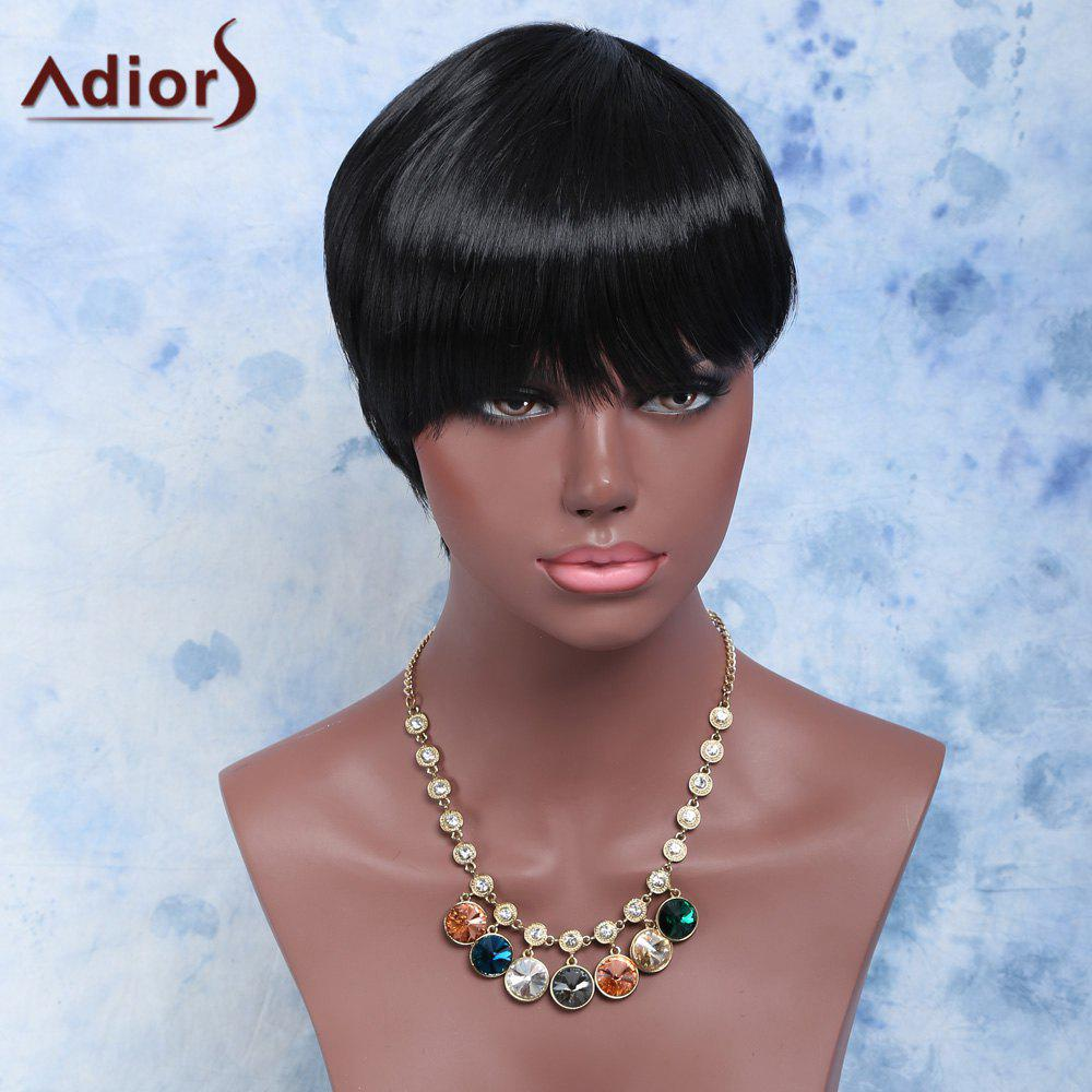 Handsome Short Capless Straight Full Bang Synthetic Wig short straight full bang handsome capless synthetic wig