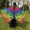 Colorful Ombre Chiffon Butterfly Wing Cape - COLORFUL
