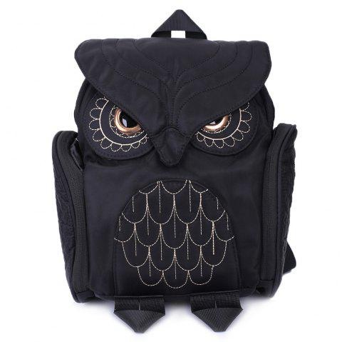 Nylon Owl Backpack - BLACK