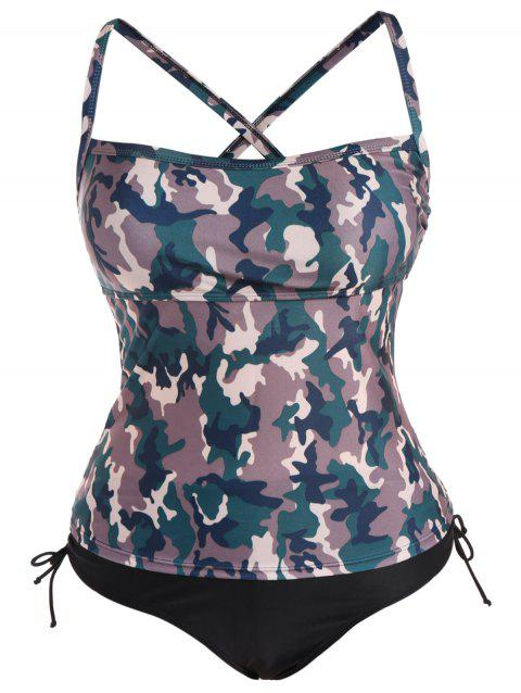 bbb50ac76c2 2019 Plus Size Camo Print Cross Tankini Set In CAMOUFLAGE COLOR 3XL ...