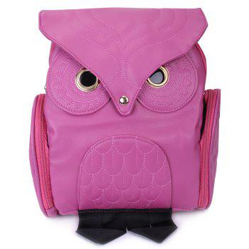Preppy Owl Pattern and Stitching Design Satchel For Women