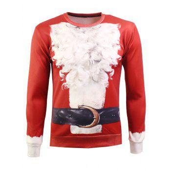 Long Sleeves 3D Print Christmas Sweatshirt