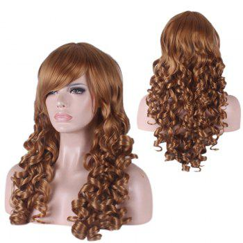 Synthetic Long Side Bang Curly Cosplay Wig