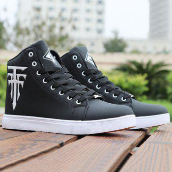 High Top Colour Block Casual Shoes
