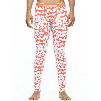 U Convex Pouch Scattered Printed Long Johns