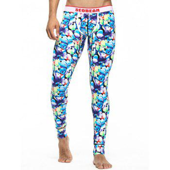 U Contour Pouch Floral Long Johns
