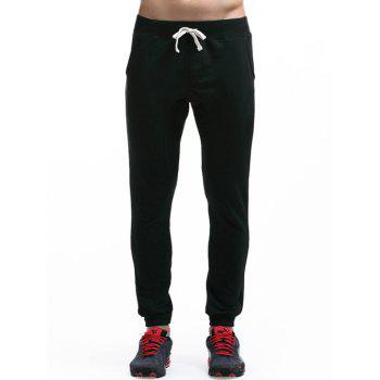 Drawstring Waist Slim Fit Jogger Pants