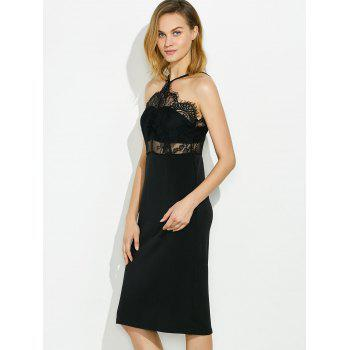 Robe transparente sans manches - Noir ONE SIZE