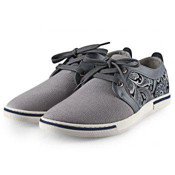 Paisley Print PU Spliced Casual Shoes