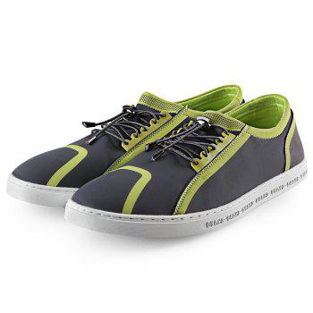 Buy Color Block Elastic Band Male Casual Shoes GRAY