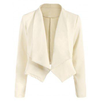 Buy Open Front Shawl Collar Blazer OFF WHITE