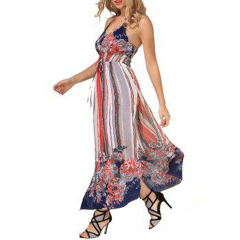 Tie Dye Painting Slit Maxi Dress
