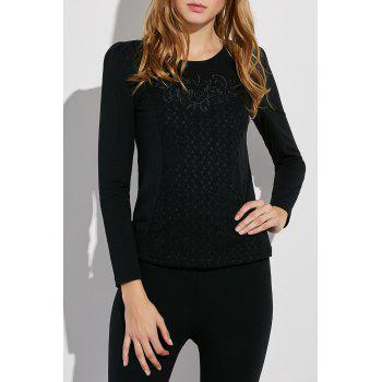 Embroidered Fitted Jumper Sweater