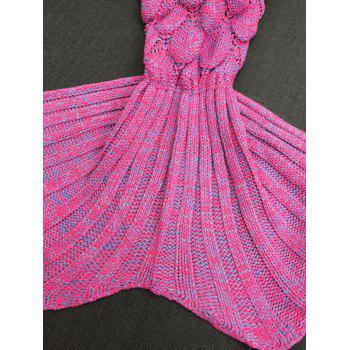 Warmth Crochet Knitting Fish Scales Design Mermaid Tail Style Blanket - VIOLET ROSE M