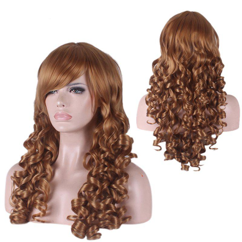 Synthetic Long Side Bang Curly Cosplay Wig red long curly wig women s wig side bang synthetic cosplay hair