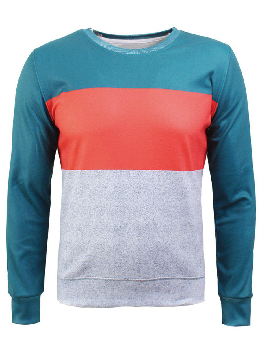 Sweat-shirt en flocage en couleur jointive à col rond - multicolorcolore M
