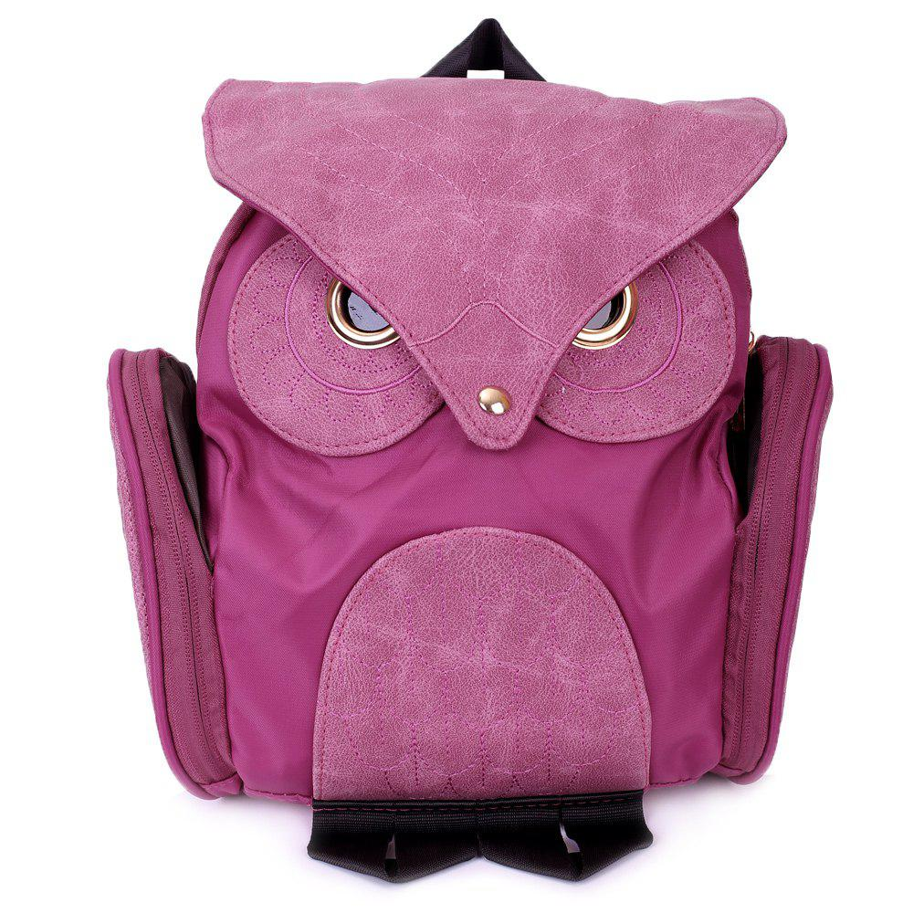Stylish Owl Shape Solid Color Design Satchel for Women - ROSE