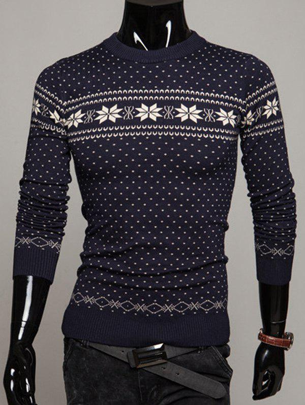 Pullover Graphic Christmas Sweater christmas pullover sweater with cartoon ornamentation pattern