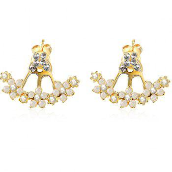 Artificial perle strass Boucles d'oreilles - d/ ;or