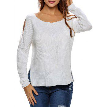 Side Slit Cut Out Sweater