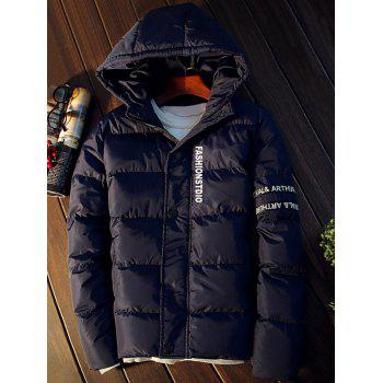 Hooded Graphic Puffer Jacket