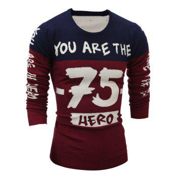 Color Block 75 Graphic Crew Neck Sweater