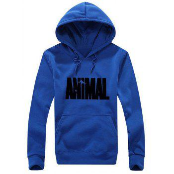 Animal Graphic Kangaroo Pocket Hoodie