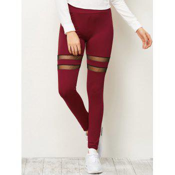 High Waist Mesh Insert Running Leggings