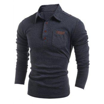 Long Sleeve Buttoned Pocket T-Shirt
