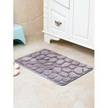 Cobblestone Design Antislip Room Door Entrance Carpet - GRAY GRAY