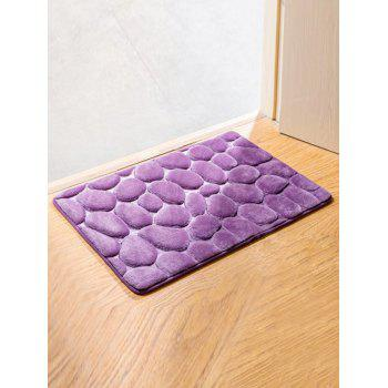 Cobblestone Design Antislip Room Door Entrance Carpet - PURPLE PURPLE