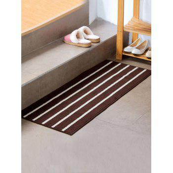 Stripe Design Antislip Bathroom Bath Mat - COFFEE COFFEE
