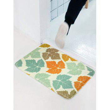 Maple Leaf Flannel Antislip Bathroom Door Entrance Carpet - COLORMIX COLORMIX