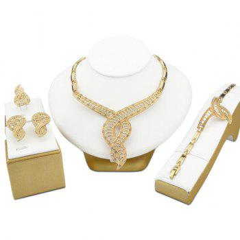 Ladder Rhinestone Jewelry Set