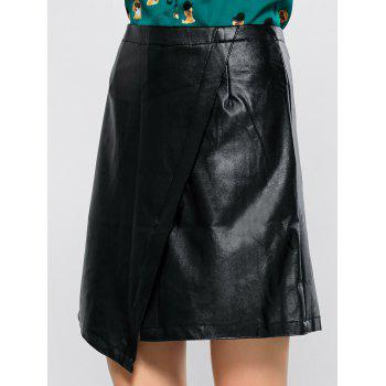 Asymmetric Faux Leather Skirt