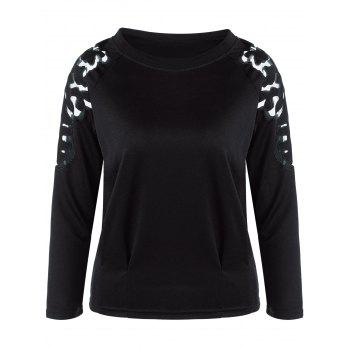 Mesh Insert Long Sleeve Tee