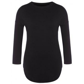 Round Neck Long T-Shirt