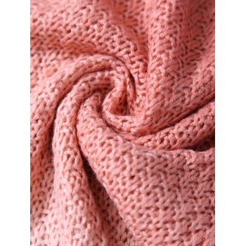 Ombre Chunky Crochet Knit Mermaid Blanket Throw For Kids -  ORANGEPINK
