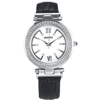 Roman Numerals Rhinestone Dial Plate Watch