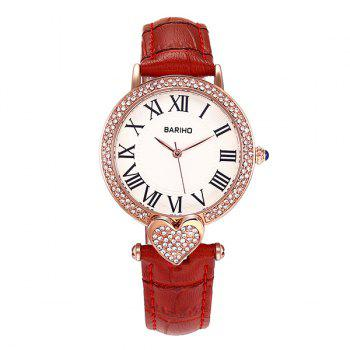Heart Rhinestone Roman Numerals Watch