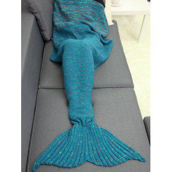 Keep Warm Winter Crochet Yarn Mermaid Blanket Throw