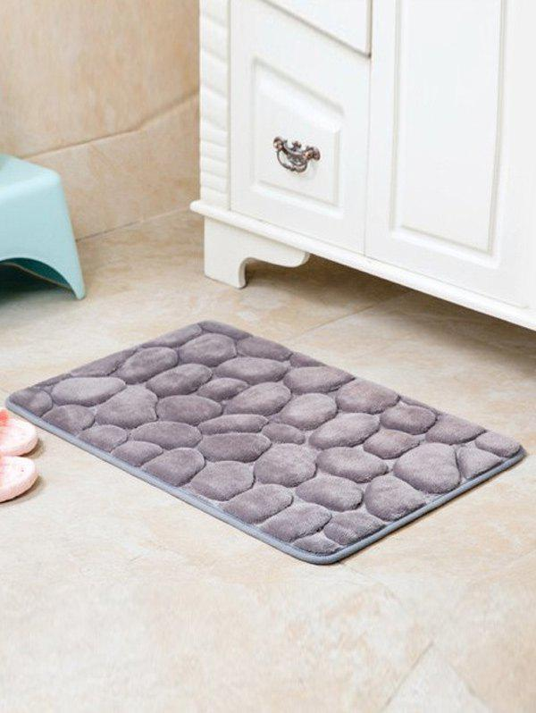 Cobblestone Design Antislip Room Door Entrance Carpet - GRAY