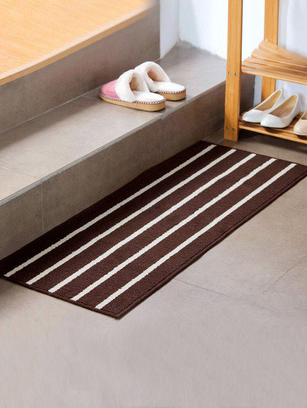 Stripe Design Antislip Bathroom Bath Mat - COFFEE