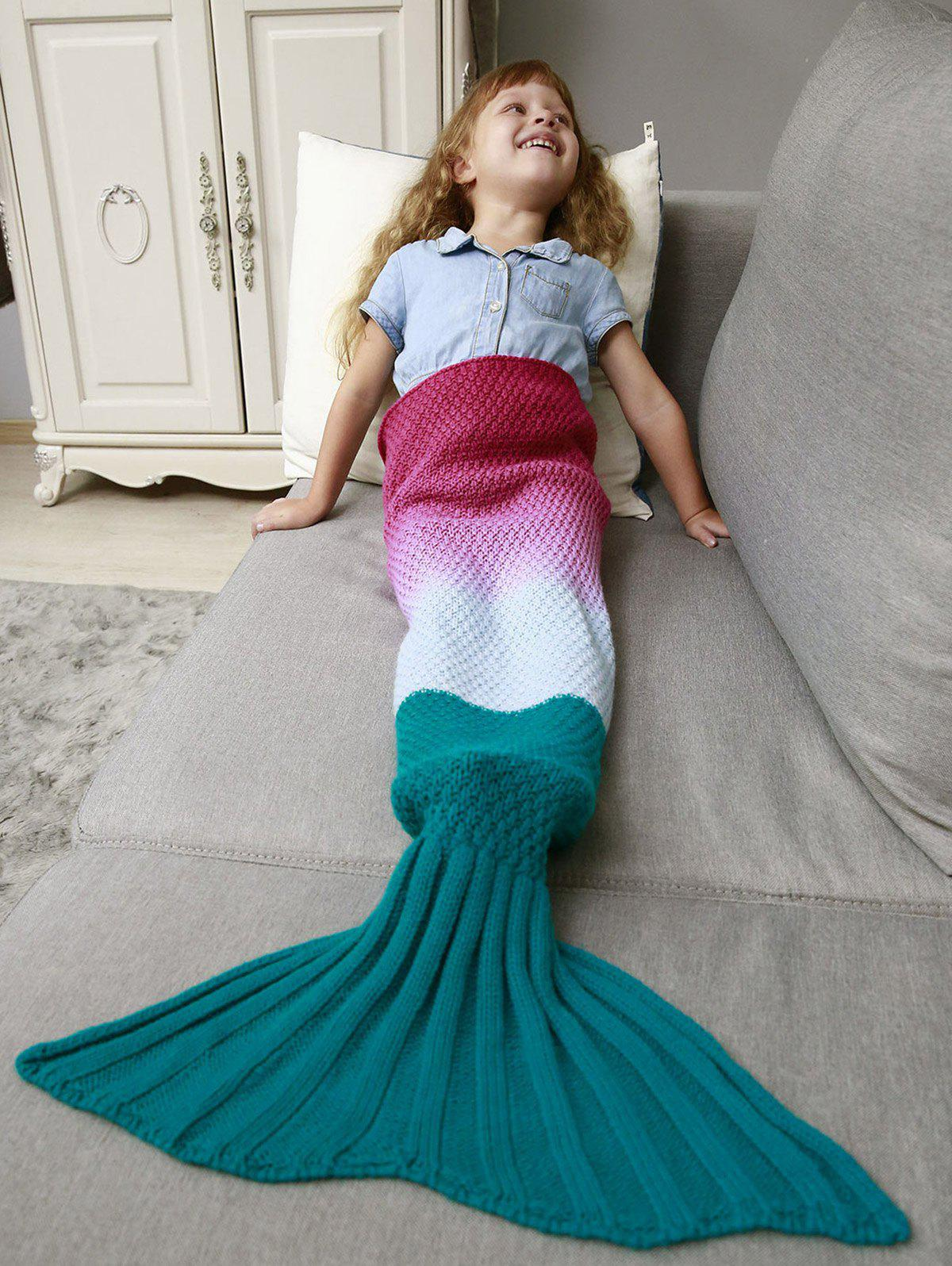 Ombre Chunky Crochet Knit Mermaid Blanket Throw For Kids constant delight miele шампунь жизненная сила 1 л