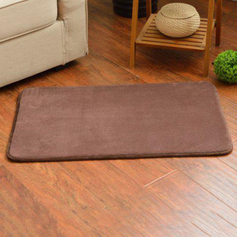 Antislip Absorbent Candy Color Bathroom Entrance Carpet - DEEP BROWN