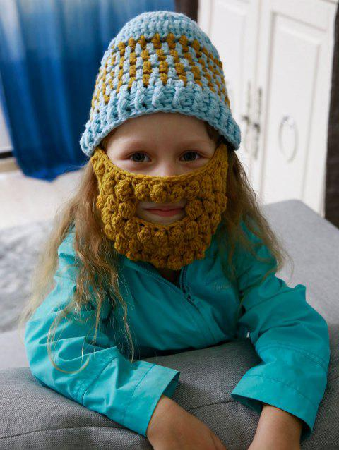Faux Mustache Mask Chunky Crochet Hat For Kids - CLOUDY