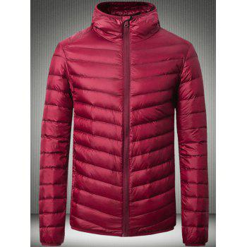 Hooded Slimming Zip Up Down Jacket